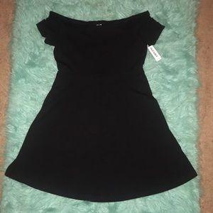 NWT Old Navy off shoulder, flare bottom mini dress